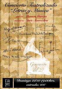 Letras y música, Generacion del 27 @ Ea! Teatro