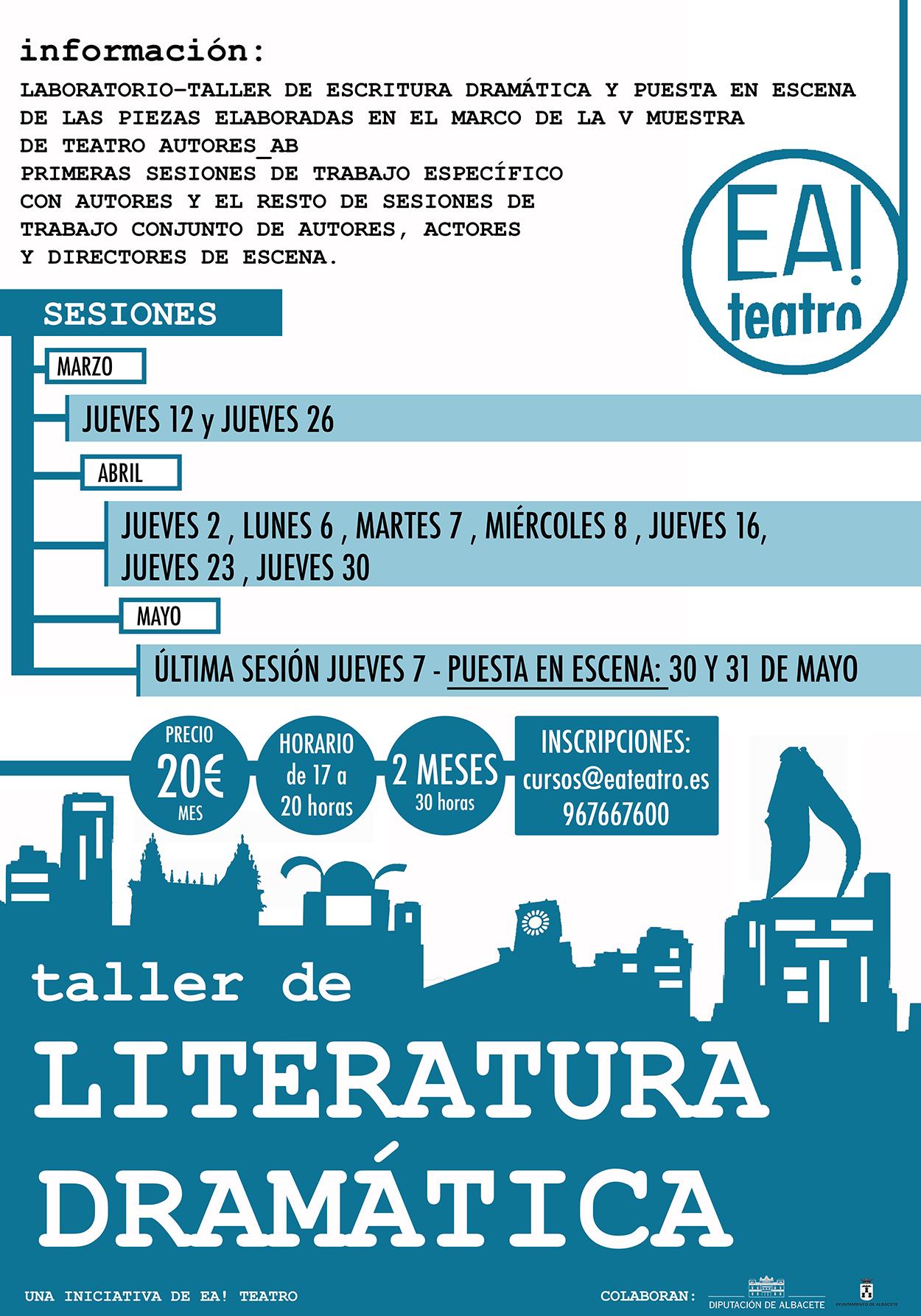 TALLER DE LITERATURA DRAMÁTICA
