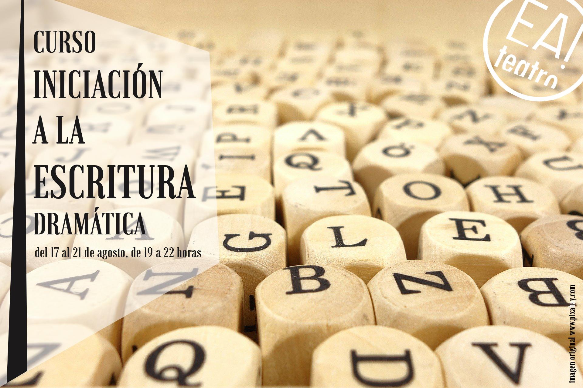 CURSO DE INICIACIÓN A LA ESCRITURA DRAMÁTICA